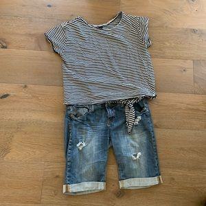 🍍Women's shorts & top bundle